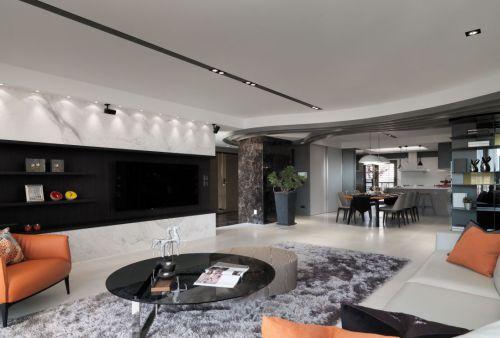 质感灰现代简约风格客厅设计效果图