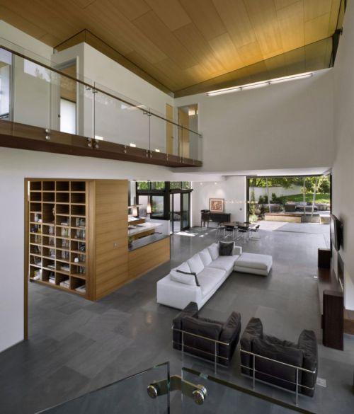现代风格客厅三层别墅装修案例