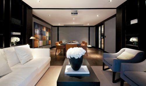 时尚都市现代风格客厅装修实景图