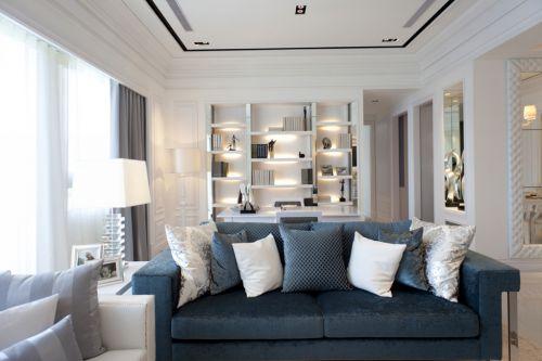 时尚典雅客厅现代风格清新乡村小别墅实景图