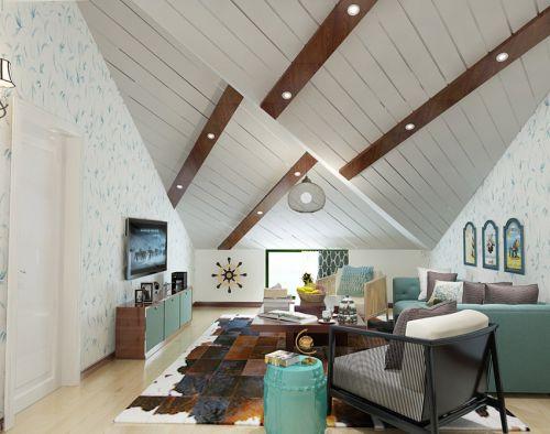 现代简约创意白色小客厅背景墙设计