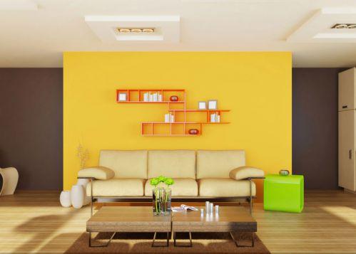 收纳式三居室原木色客厅茶几装修效果图