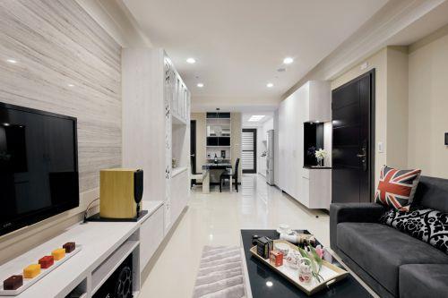 70平现代风格一居室客厅装修效果图