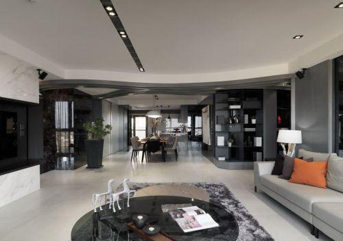 时尚现代简约风格灰色客厅设计效果图