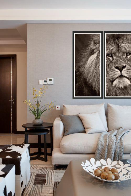 大气现代风格客厅背景墙装修设计