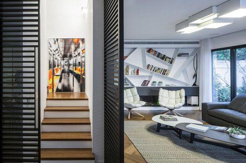 现代风格时尚别墅黑色客厅装修效果图