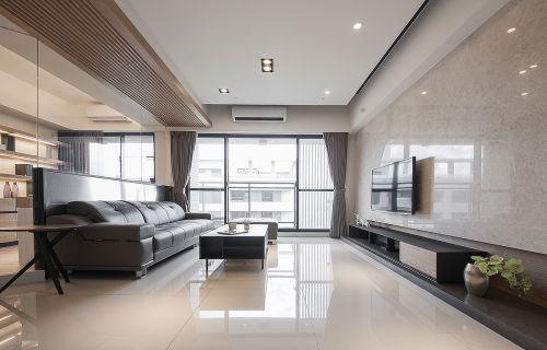 时尚黑色现代简约风格客厅沙发装修图片