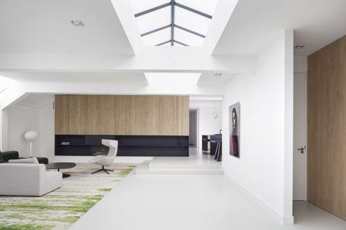 车库改建230平现代客厅装修效果图