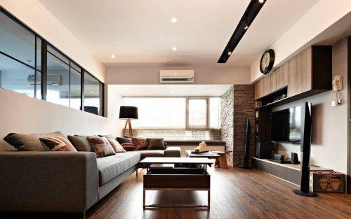 硬朗沉稳现代风格客厅沙发装修图片