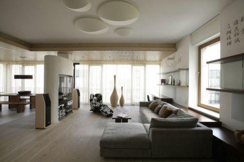 现代风格宽敞明亮客厅舒适沙发效果图