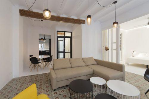 现代风格清新客厅舒适沙发效果图
