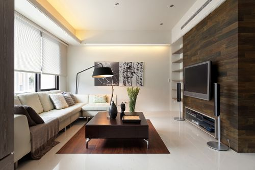 简约现代风格客厅背景墙装修设计