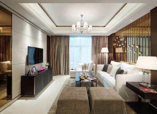 时尚三居室现代风格客厅装修样板间
