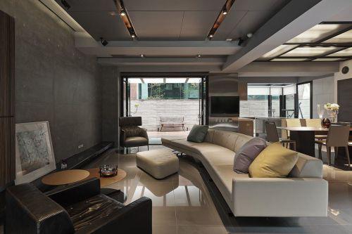 都市公寓创意装修之绅士风现代简约客厅装修效果图