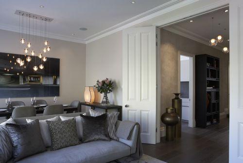 现代风格素雅客厅沙发装修实景图