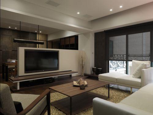简约时尚现代风格客厅装修实景图