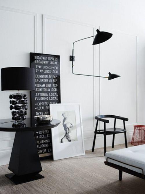 现代风格黑色艺术客厅装修效果图