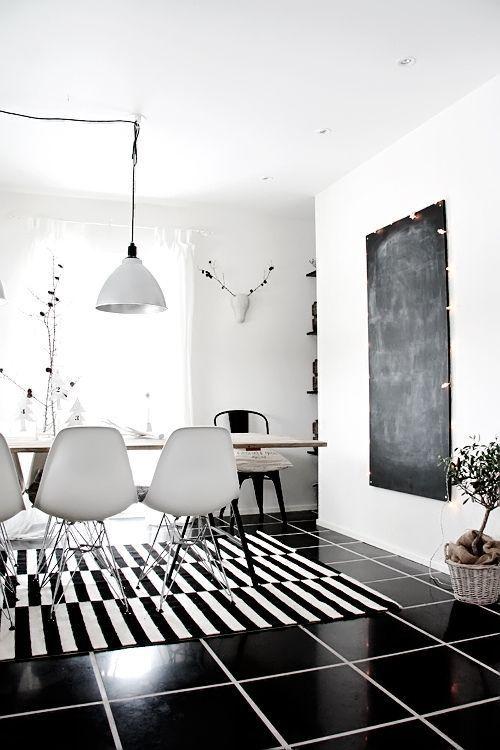 现代风格黑白纯色清新客厅装修效果图