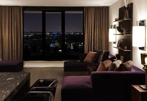 现代风格黑色高品质客厅装修效果图