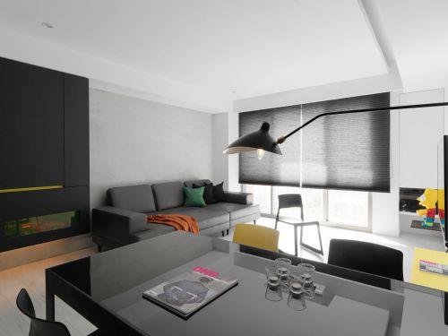 现代风格灰色时尚雅致客厅装修