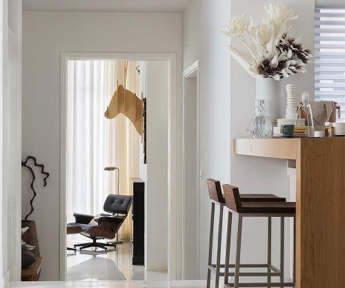 现代欧式风格客厅吧台隔断装修效果图