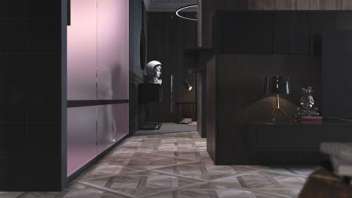 黑色现代风格艺术情怀客厅装修效果图