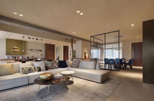 气质宽敞现代风格客厅沙发装修图片