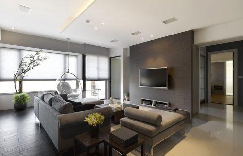 现代90平小户型简约装修客厅实景图