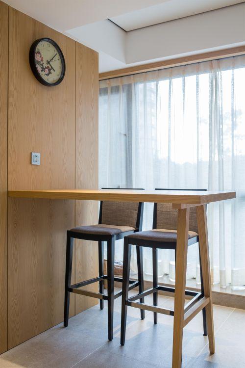 清新原木色现代风格客厅吧台装修图片