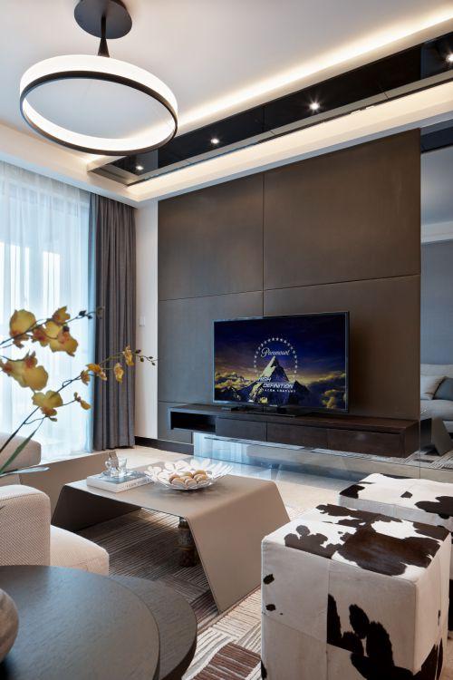 现代风格奢华客厅灯具装修设计