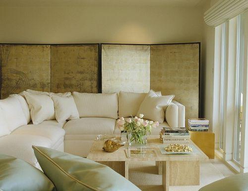 简约现代风格客厅家居屏风装修效果图