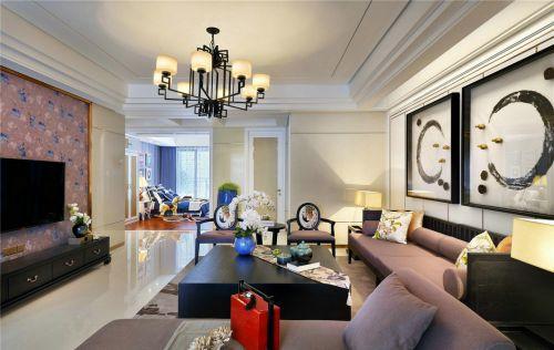 新中式现代大气红木家具客厅装修效果