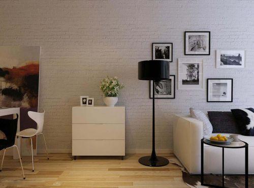 30平米现代简约单身公寓客厅装修效果图