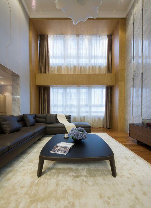 现代风格复式房客厅装修效果图