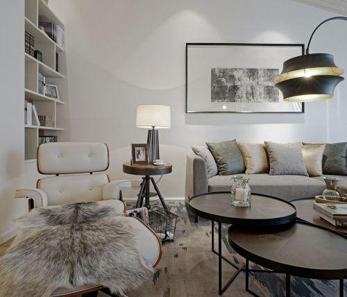 轻奢时尚现代风格客厅茶几效果图