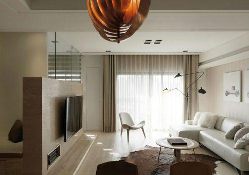 现代简约风格开阔客厅设计效果图
