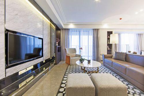 现代简约风格米色时尚客厅装修效果图