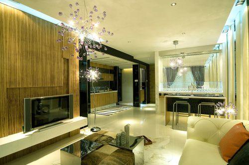 现代欧式风格大户型客厅电视柜装修效果图