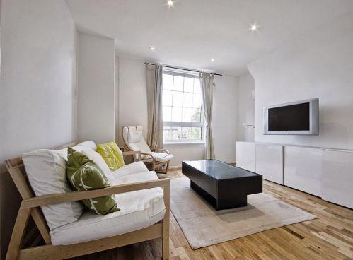 现代简约风格客厅50平米小户型装修图