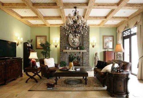 典雅客厅现代风格清新乡村小别墅实景图