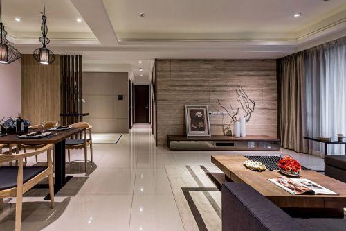 浪漫精致现代风格客厅背景墙装修图片