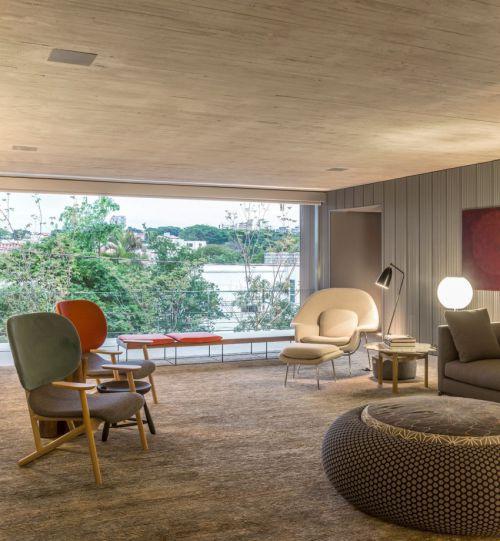 现代简约风格休闲大气客厅装修效果图