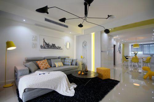 现代简约风格清新时尚客厅茶几装修图片