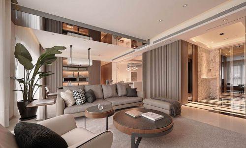 285平大气时尚别墅现代风格客厅装修效果图