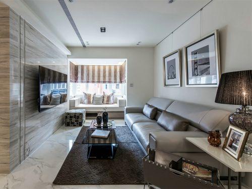 明亮现代风格客厅飘窗装修效果图
