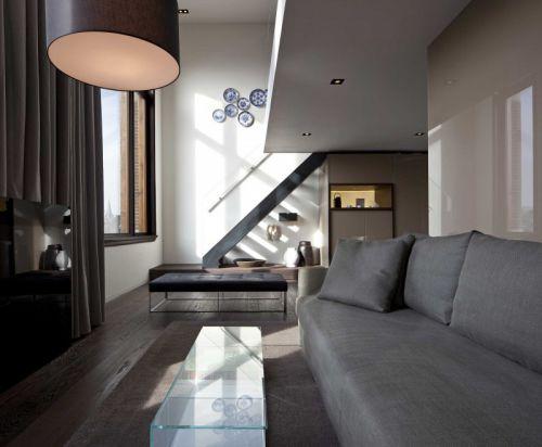家装复式房现代风格客厅装修设计