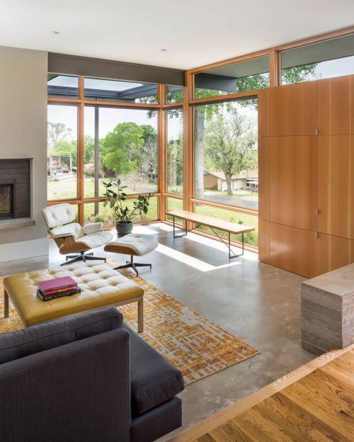 通透现代风格别墅温馨客厅装修设计图