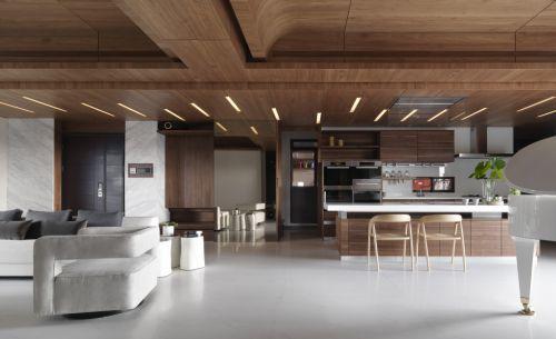 时尚现代风格客厅吊顶效果图
