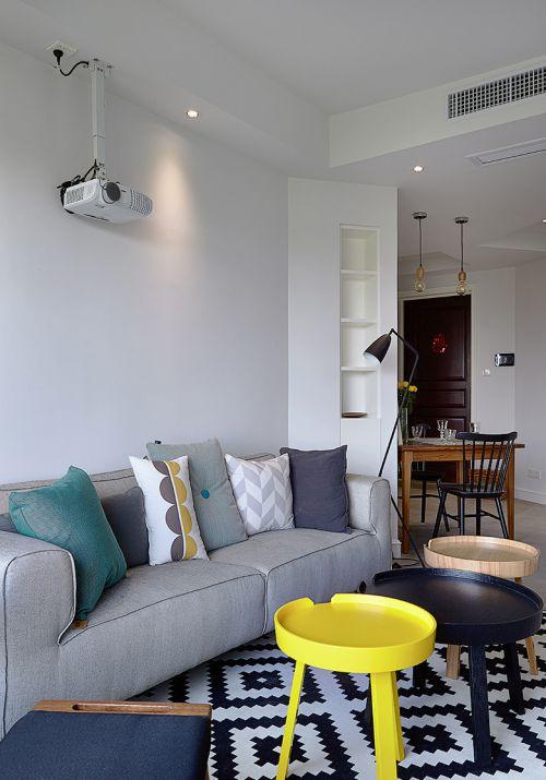 唯美现代风格客厅沙发效果图