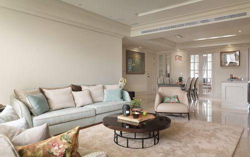 清新现代风格客厅沙发效果图
